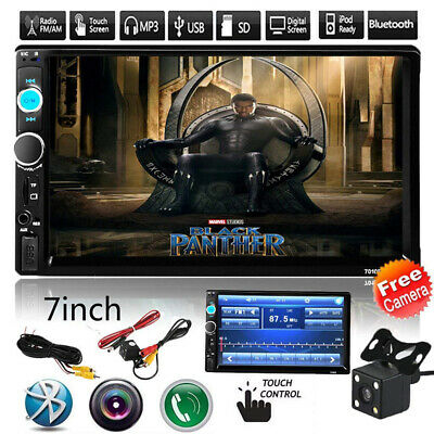 """7"""" 2Din 1080P HDCar Radio MP5 Player Rear view camera Android/IOS Mirror LInk US"""