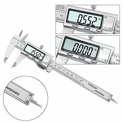 150mm/6'' Digital LCD Vernier Caliper Micrometer Measure Ruler Gauge Stainless