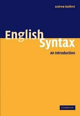 English Syntax An Introduction by Andrew Radford 9780521542753 (Paperback, 2004)