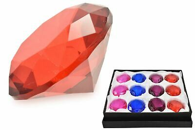 """2"""" Crystal Clear Glass Diamond Paperweight Wedding Favour Decor Display Gift"""