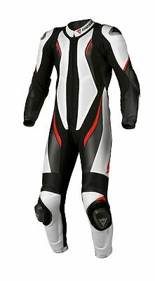 Dainese Aspide One 1 Piece Racing Track Motorbike Motorcycle White Suit 56 46