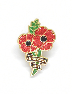 New 2019 Fashion Remembrance Day Never Forget Red Poppy Enamel Pin Badge Brooch