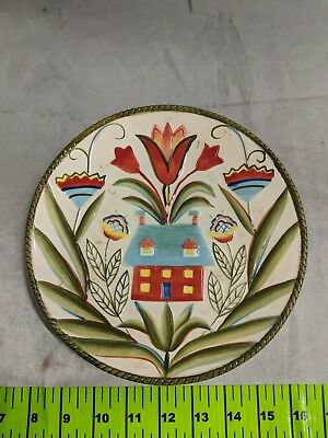 (1) FITZ and FLOYD Glennbrook SALAD DESSERT Stoneware PLATE Multi-Color FLORAL