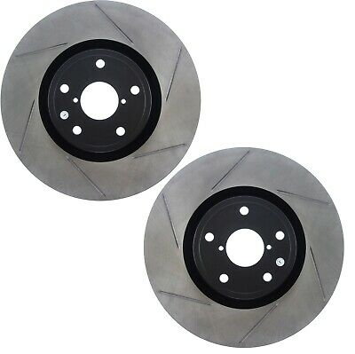 STOPTECH 1993-1995 MAZDA RX7 RX-7 FD3S FRONT SLOTTED BRAKE ROTORS DISCS SET PAIR