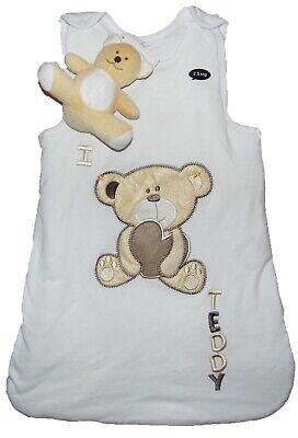 Baby Sleeping Bag 0-6 Months and 6-12 Months with Free Teddy Toy Slight Seconds