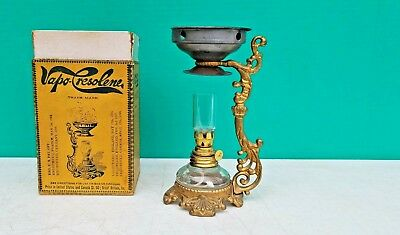 Antique VAPO CRESOLENE Kerosene Lamp Bronchial Medical Cresolene Vaporizer