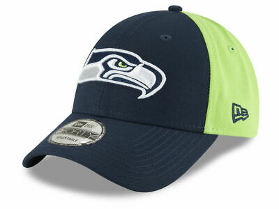 new arrival 71b00 c0160 Seattle Seahawks New Era Team Blocked 9FORTY Strapback Adjustable Cap Hat  Men s