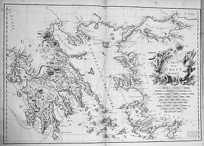 1781 Greece Griechenland Inseln islands Karte map Kupferstich antique print