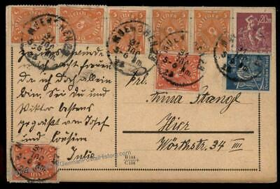 Germany Inflation Cover July 31 1923  Last Day Rate Inverted Month Error C 72603