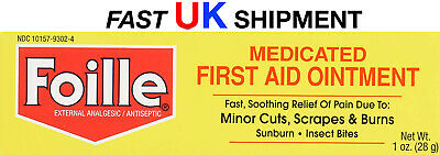 Foille Medicated First-Aid Ointment Tube, 1 oz (28 g): UK SAME DAY POST