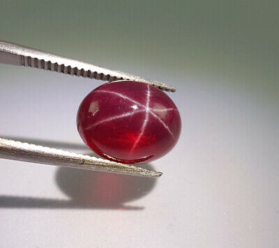 5.22 CT Natural Real Ruby Red Loose Gemstones Cabochon Rubies Star Ruby