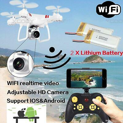 Battery WIFI Camera Drone FPV 2.4Ghz 4CH 6-Axis RC Quadcopter HD RTF
