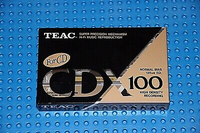 Teac      Cdx   100     Blank Cassette Tape  (1)     (Sealed)