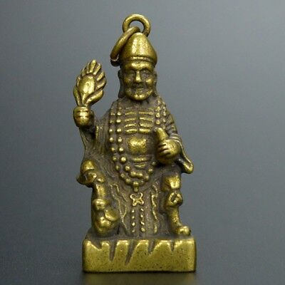 Chinese collection handwork Carved bronze Ji Gong Buddha statue /Pendant.
