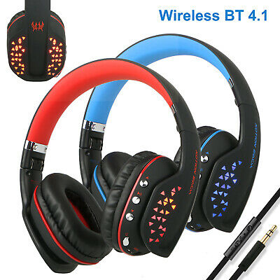 Wireless Bluetooth Pro Gaming Headset Headphone for Xbox One PC PS4 With Mic LED