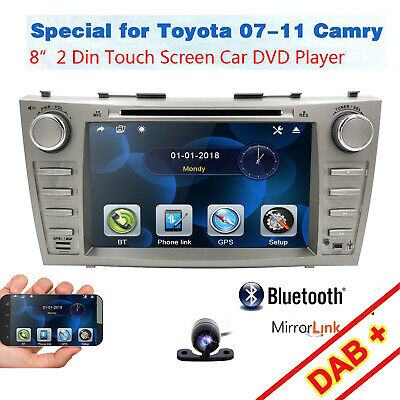 """8"""" For Toyota Camry 2007-2011 GPS Navigation Car Radio Stereo DVD Player+HD Cam~"""