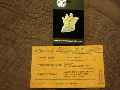 Disneyland Large Adult B Ticket Special Prices & 2005 Tinkerbell Pin Movie News