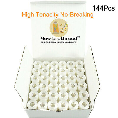 New brothread 144pcs Embroidery Bobbin Thread for Embroidery and Sewing Machine