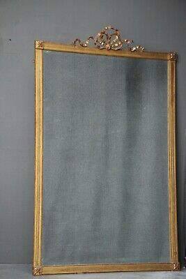 Antique French Empire 1810 gold gilt wood mirror original gilded finish large