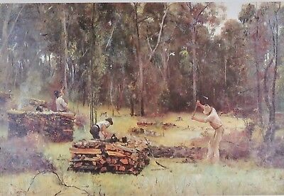 Tom Roberts, The Splitters, Working with Timber in Australian outback.