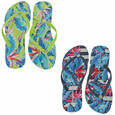 2cd5937793f9 Tommy Bahama Women s Whykiki Print Slip On Thong Flip Flop Sandals Shoes