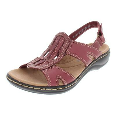9b16d4ef3fb Clarks Womens Leisa Skip Leather Strappy Open Toe Sport Sandals Flats BHFO  4368