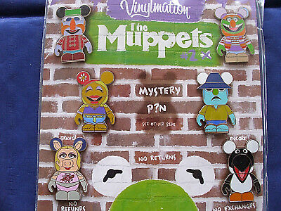 Disney * VINYLMATION - MUPPETS #2 * Retired 7-Pin Booster Set w/ Mystery Chaser