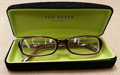 ad4a6c989a6 Ted Baker London Glasses Frames Brown Plastic Eyeglasses Women With Case