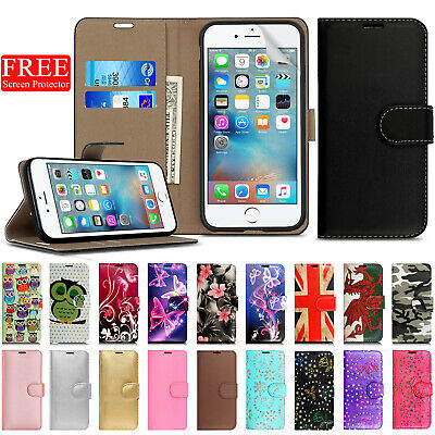 Case for Apple iPhone 6 6s Cover Real Genuine Leather Flip Wallet Luxury Magntic