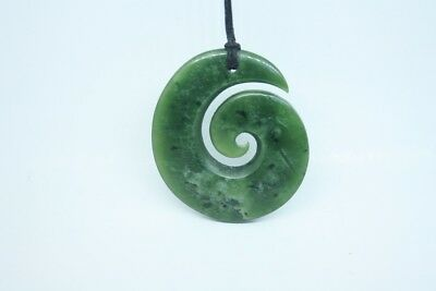 Greenstone Carving Koru New Zealand Gifts Hand Made carving Peter Cleghorn