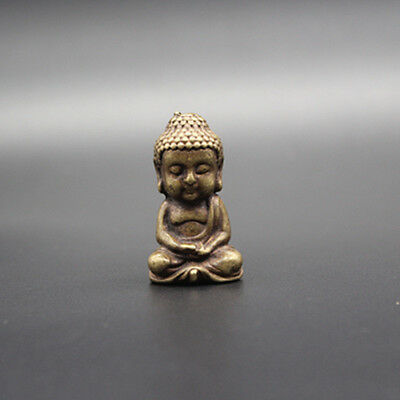 Exquisite Collection Chinese pure copper Pocket Buddha statue.