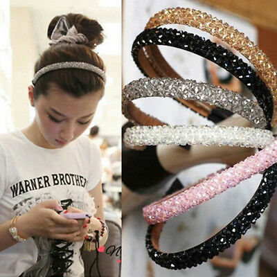 Cool Women's Girl's Crystal Diamante Bling Headband Alice Band Hair Accessory jp