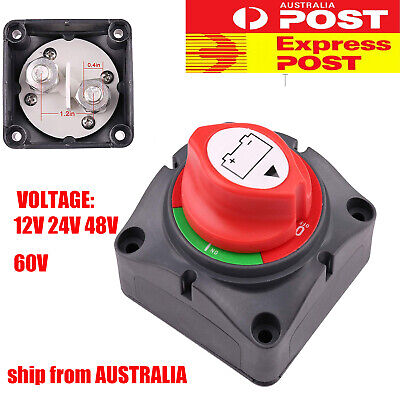 Car Boat RV Battery Switch 12-48V Power Cut On/Off Master Disconnect Isolator