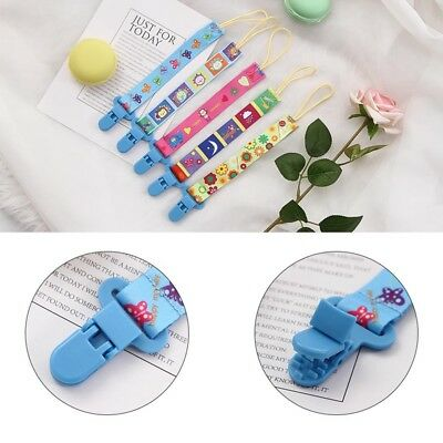 1PCS Newborn Cartoon Baby Dummy Chain Pacifier Clip Holder-Soother Nipple Strap