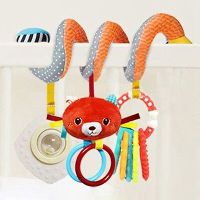 Cartoon Fox Plush Rattle Baby Infants Stroller Crib Hanging Rattle Teething Toys