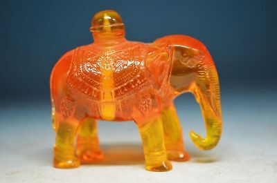 COLLECTION CHINA HAND-CARVED ELEPHANT MODELING SNUFF BOTTLE