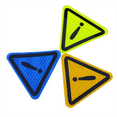 Car Blue Safety Reflective Triangle Sign Warning Mark Caution Sticker Decal Deco