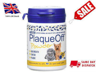 Proden Plaque Off For Cats and Dogs - 60g, Supports Normal and Healthy Teeth