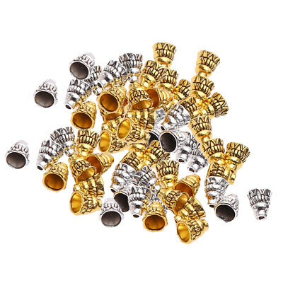 Blesiya 140pcs Beads Ends Caps for Jewelry Making Kits DIY Necklace Crafts