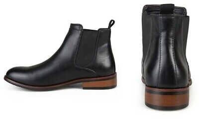 ae017cce159 NEW VANCE CO Men's Round-Toe High-Top Chelsea Dress Boots - Black ...