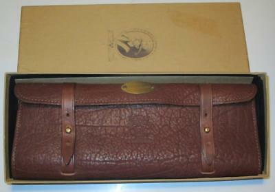 Vintage Tooled Leather Map Holder With Map Mint In Box
