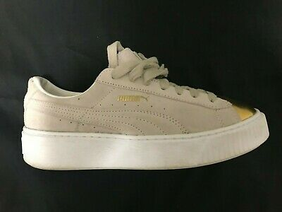 PUMA RIHANNA GOLD Toe Suede Platform Women's Iconic Shoes