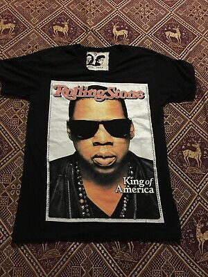 Vintage Jay Z Rolling Stone Graphic T Shirt Size XL