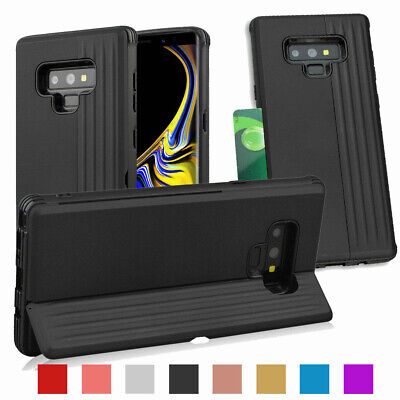 Credit Card Slot with Fold Stand Phone Case For Samsung Galaxy S9 Plus Note 8 9