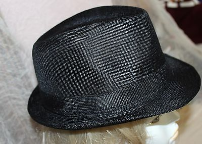 4909c3fd7cd New Sm Brim Black Fedora Hat Trilby Gatsby Large Gangster Blues Brothers