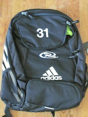 adidas Climaproof Stadium Team Gear Up Backpack Black with Rush Logo    31  shown 352b4c630e659