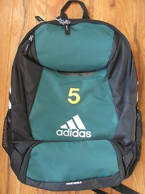 9649c2255bf5 ADIDAS CLIMAPROOF STADIUM Team Gear Up Soccer Backpack Green with  5 ...