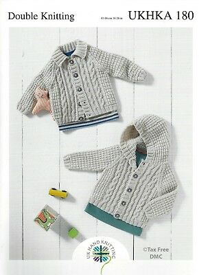 Vat Free Hand Knitting Pattern Only Baby Child Children Cardigans