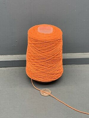 200g 3/14nm Doux 100% Laine de Mouton Fil Orange Brillant Fabriqué en Ecosse