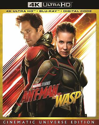 NEW Ant Man and the Wasp 4K MOVIE UHD + Blu-ray + Digital Code ANTMAN PAUL RUDD
